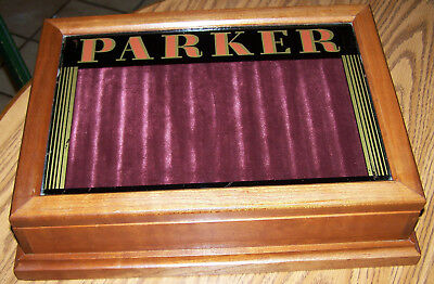 Vintage Parker Fountain Pen Display Case 16 1/4 by 11 1/2