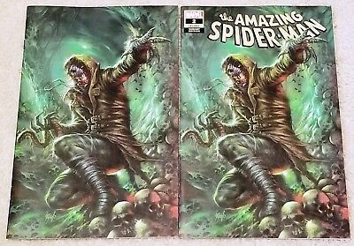 Amazing Spider-Man 2 Lgy 803 Lucio Parrillo Virgin New Villain Variant Set 8.5