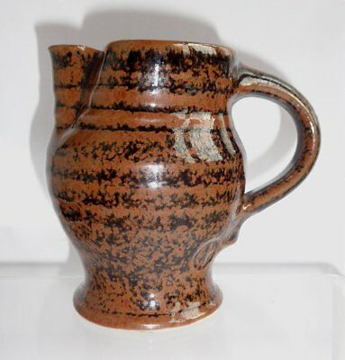 Ted Hughes Burford House Studio Pottery Small Tenmoku Jug
