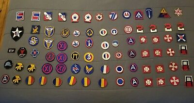 Lot of 80 World War II Military patch collection