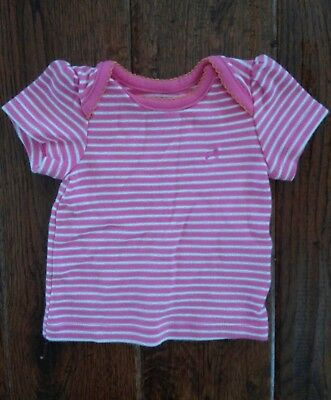 Girls Faded Glory Pink And White Striped Tee Size Newborn