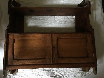 Antique Beautiful English Oak Wall Cabinet from York England