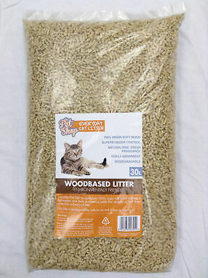 Mayfield Woodbased Cat Litter- 30ltr Cat Litter Damaged