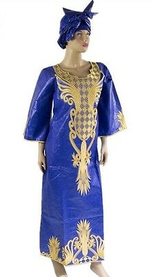 Senegalese style African women embroidered brocade Kaftan