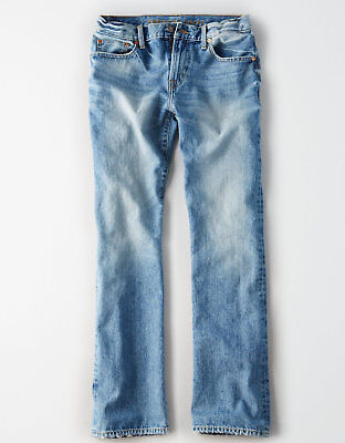 American Eagle Men's Classic Bootcut Jeans - Light Wash - 34x32 - NEW Version