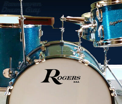 Rogers USA,Vintage, Repro Logo - Adhesive Vinyl Decal for Bass Drum Reso Head