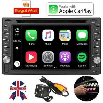 """6.2"""" Bluetooth 2 DIN Car Stereo DVD CD Player Audio Touch Screen USB FM Radio SD"""