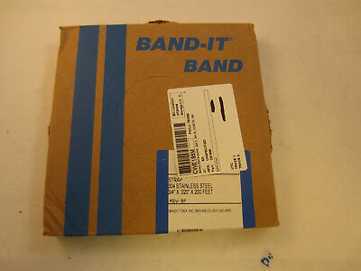 "Band-It C91699 Stainless Steel 304 Band 3/4"" X .020"" X 200Ft Strap"