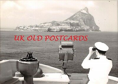 GIBRALTAR, View of the Island from Navy Ship - 1960/70's, Real Photo