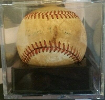 Babe Ruth Autographed Baseball! Letter of Authenticity Included!