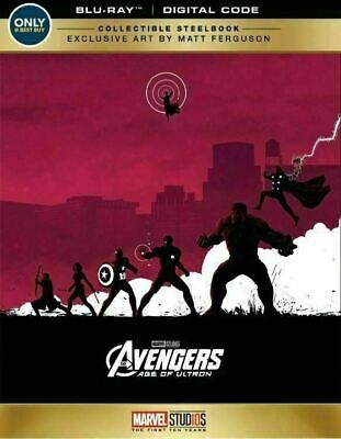 The Avengers Age of Ultron - Limited Edition Steelbook [Blu-ray] New!!