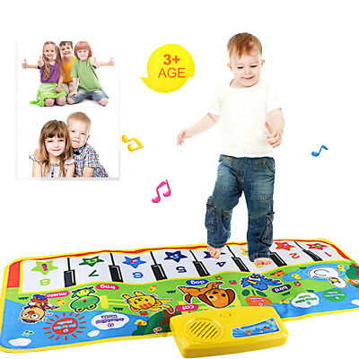Touch Play Keyboard Area Rug Piano Key Music Carpet Floor Mat Kids Baby Gift Toy