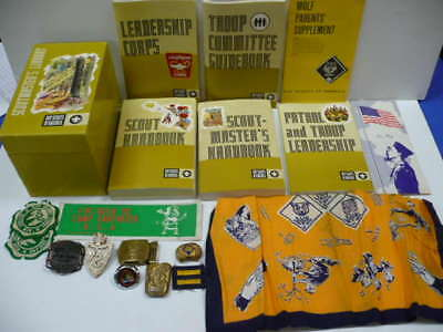 Vintage Boy Scouts Mixed Lot - Books , Buckles Etc.