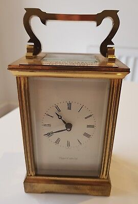 Vintage brass MAPPIN & WEBB carriage clock