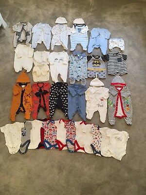 Huge Bundle Tiny Baby/ First Size Baby Boy Clothes