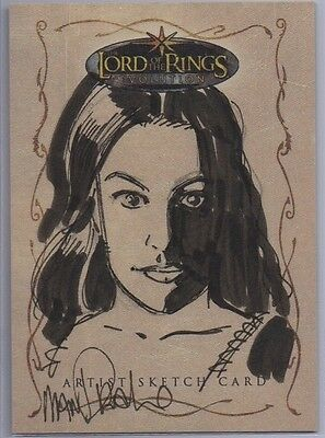 Lord of the Rings Evolution Arwen Sketch Card by Tom Mandrake *Free S/H*