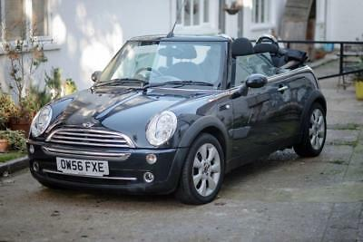 Mini One 1.6 Convertible Car Black Excellent Condition MOT REDUCED PRICE TO SELL