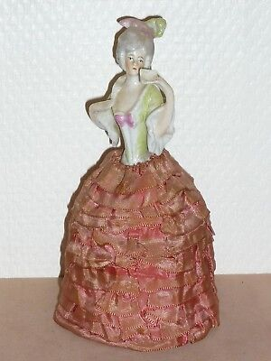 Ancienne Demi Figurine Half Doll Teepuppe Buste Porcelaine  15 Cm Pin Cushion