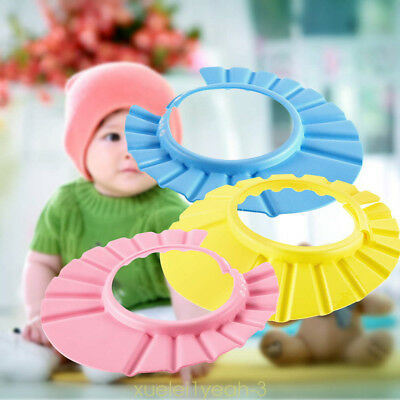 Kids Bath Hat Baby Adjustable Soft Waterproof Shield Shampoo Shower Cap