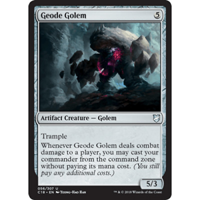 1x GEODE GOLEM  - Commander -  MTG - NM - Magic the Gathering