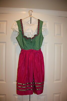 Authentic New Women's Dirndl, Made and Purchased in Munich, Size US 10.