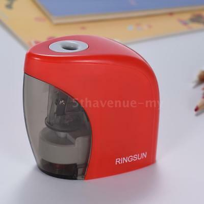 Electric Pencil Sharpener Dual Power Battery&USB Cable Kids Stationery Gift P6T8