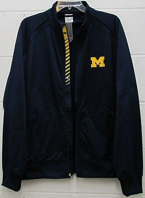 f28c70eaf8634e Men s Michigan State Wolverines NCAA Athletic Track Jacket Navy Size L Large  New