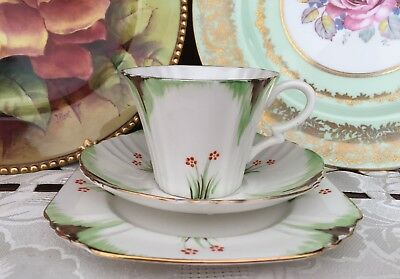 Vintage Art Deco Royal Albert Crown China Made In England Trio C1930's