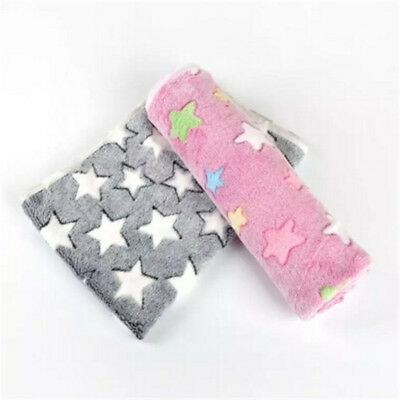 Star Warm Pet Flannel Blanket Bed Mat Cover Coral Cushion F/Dog Cat Comfort Hot