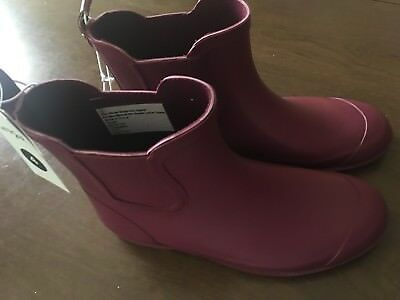 Nwt Cat & Jack Girls Ankle Rubber Rain Boots Size 4  Pink / Cranberry