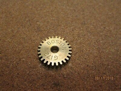 """New Other, Boston  G172 Spur Gear, Brasss, 32 Pitch, 26 Teeth, 3/16"""" Bore."""