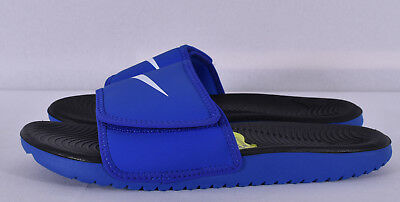 d9815922c04f NIKE BOYS  KAWA Adjust (GS PS) Slide Wolf Grey  Obsidian (819344 002 ...