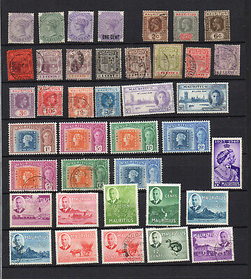 MAURITIUS  QV to QEII 59 DIFFERENT MNH / MH / USED STAMPS