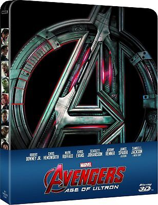 The Avengers: Age of Ultron - 3D/2D Limited Edition Steelbook [Blu-ray] New!!
