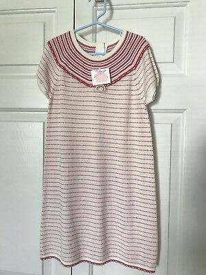Janie and Jack Pink and Cream Knit Striped Sweater Dress Size 6 New NWT