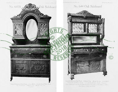 Wisconsin Furniture Mfr Co 1907 CATALOGUE Oak Wood Dressers + Sideboard Samples