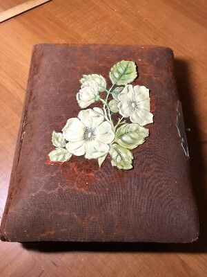 "Antique Photo Album 1800's with 18 4"" X 6"" Cabinet cards"