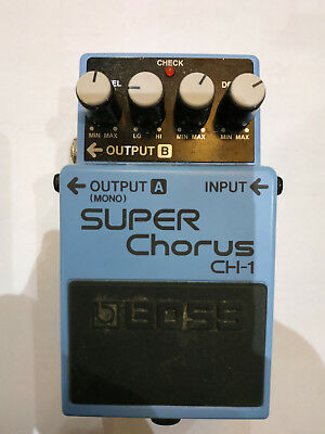 Boss CH-1 Super Chorus Guitar Effect Pedal Free shipping