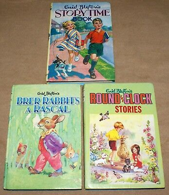 Enid Blyton Books Vintage Brer Rabbit Round The Clock Stories & Storytime Book