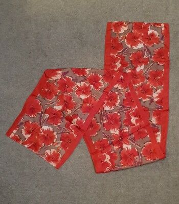 Red Floral Vintage Scarf Feels Like Silk?