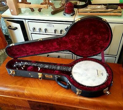 Rare Antique 1890s GATCOMB high end Standard 30 bracket model 25 Banjo Excllant