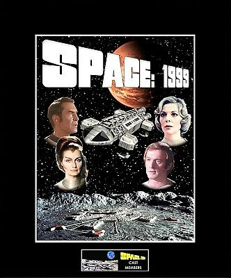 "SPACE 1999 Main Cast Members 8""x10"" Collage Photo -11"" x 14"" Black Matted"