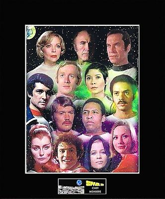 "SPACE 1999 Main Cast 8""x10"" Collage Photo -11"" x 14"" Black Matted"