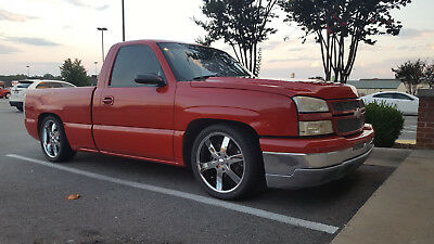 2006 Chevrolet Silverado 1500 Short Wheel Base 2006 Chevy Silverado, Lowered & Customized, Red, V8 HO
