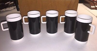 5 Vintage Braniff International Airlines Plastic 5320 Expresso Cups