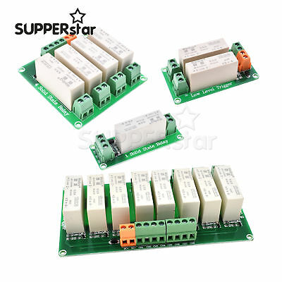 DC-DC 5A 0-2V 1/2/4/8-CH SSR Solid State Relay Module Low Trigger Arduino ASS