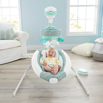 NEW Fisher-Price Baby Soothing River Cradle 'n Swing Rocker