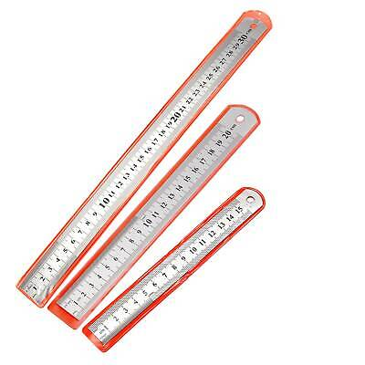 "6''/8""/12"" Stainless Steel Standard Metric Ruler Engineers Ruler - 150/200/300mm"