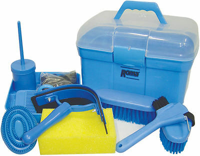 Roma Ultimate Grooming Kit 10 Piece Horse Grooming Set - Blue NEW