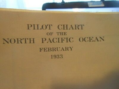 1933 Flight Chart North Pacific Ocean